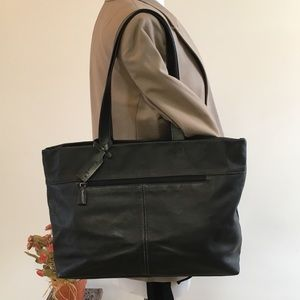 Tignanello Black Leather Tote
